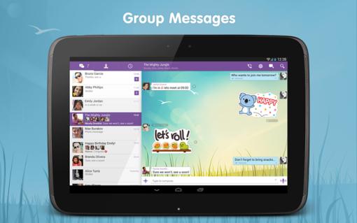 Viber verzija 4.0, optimiziranost za tablete, instant glasovne poruke, preko 1000 novih naljepnica.