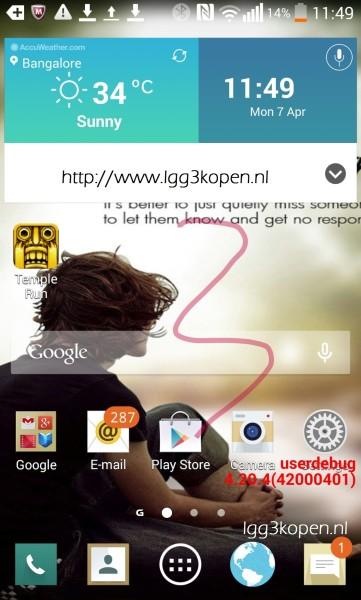 LG G3 UI