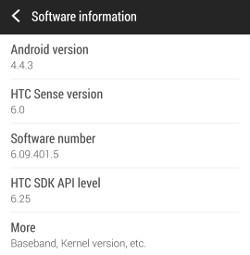 HTC One M7 4.4.3